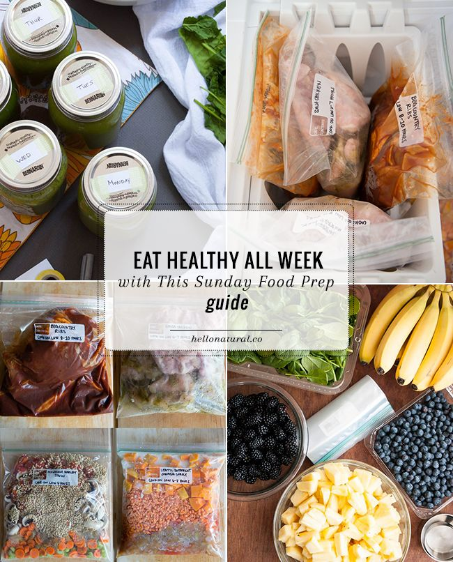 No-Fail Plan: Eat Healthy All Week with This Sunday Food Prep Guide | http://hellonatural.co/nfp-eat-healthy-all-week-with-this-sunday-food-prep-guide/