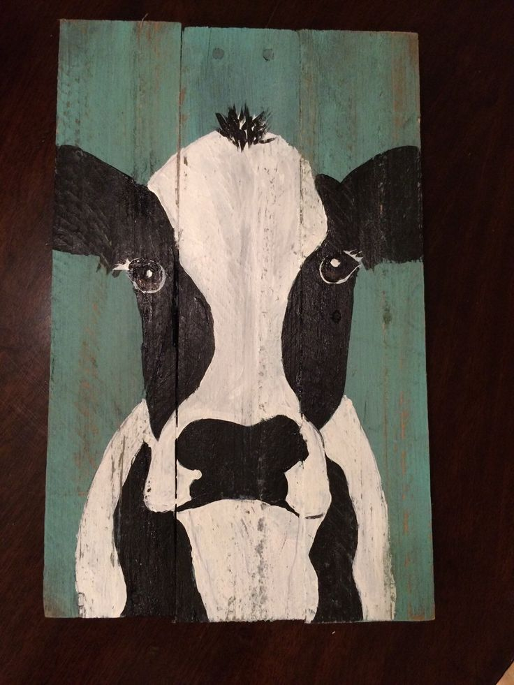 Cow on reclaimed wood by Lee H Keller Etsy shop https://www.etsy.com/listing/253383445/cow-art-on-reclaimed-wood-shabby-chic