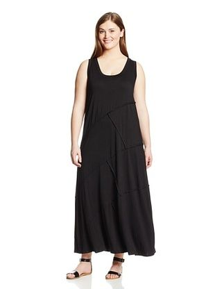 61% OFF Karen Kane Women's Plus Reverse Seam Carolyn Maxi Dress (Black)