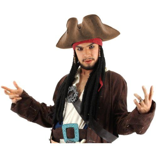 Jack Sparrow Pirate Hat Costume Accessory @ niftywarehouse.com