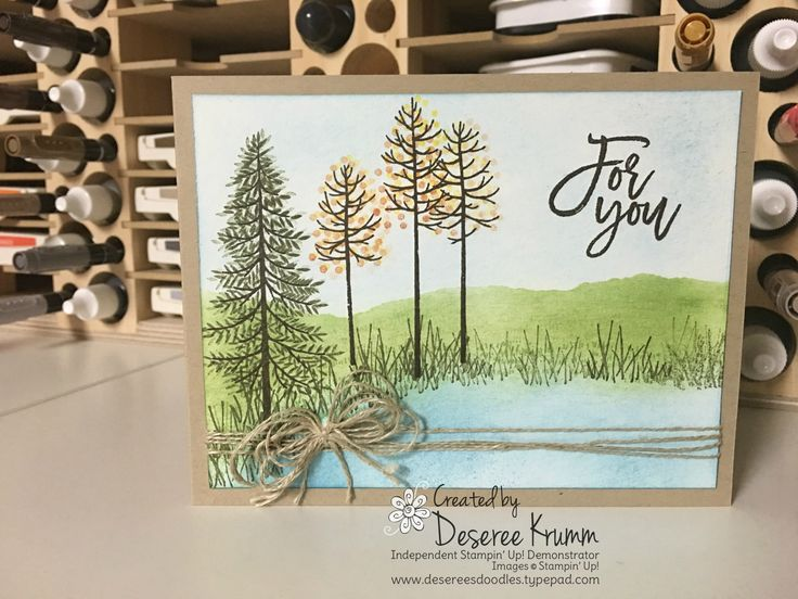 stampin up, thoughtful branches, trees, cardmaking