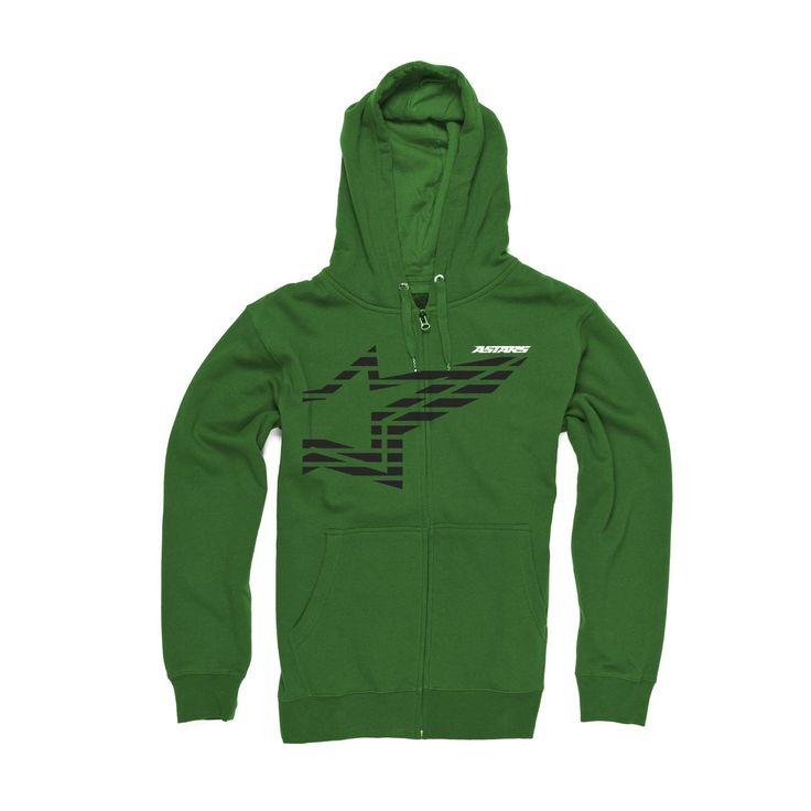Organic green Alpinestars zip up hoodie with character!! Under $50  http://www.hotzipuphoodies.com/plume-green-zip-hoodies-hotzipuphoodies-com/  #green #zip up #hoodies