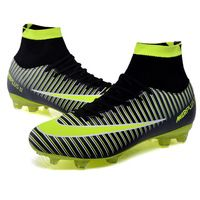 New Professional Football Boots for Adults Men Outdoor Ankle Top TF/FG Sole Futsal Soccer Cleats Shoes Athletic Sneakers EU39-44