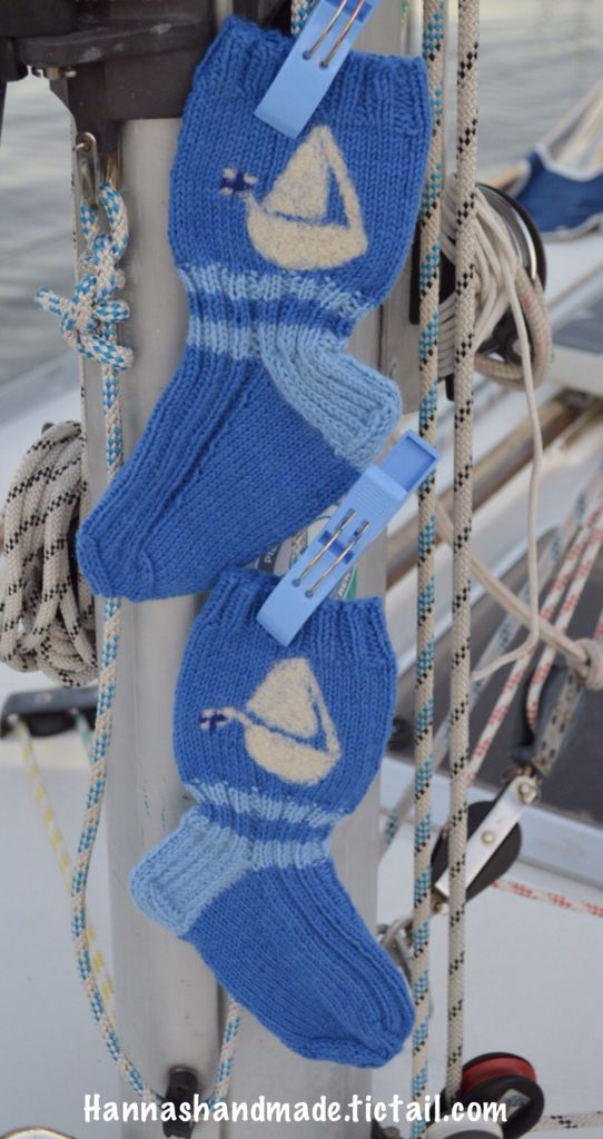 #sailingboat #socks #forsale in my #webshop #hannamarja #handmade