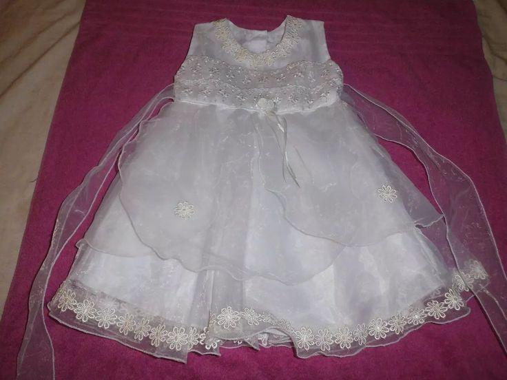 Vestido Para Bautizo Blanco Talla 2 - Bs. 8.000,00 en Mercado Libre