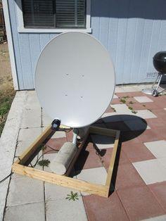 Picture of Free To Air (FTA) Satellite Dish setup