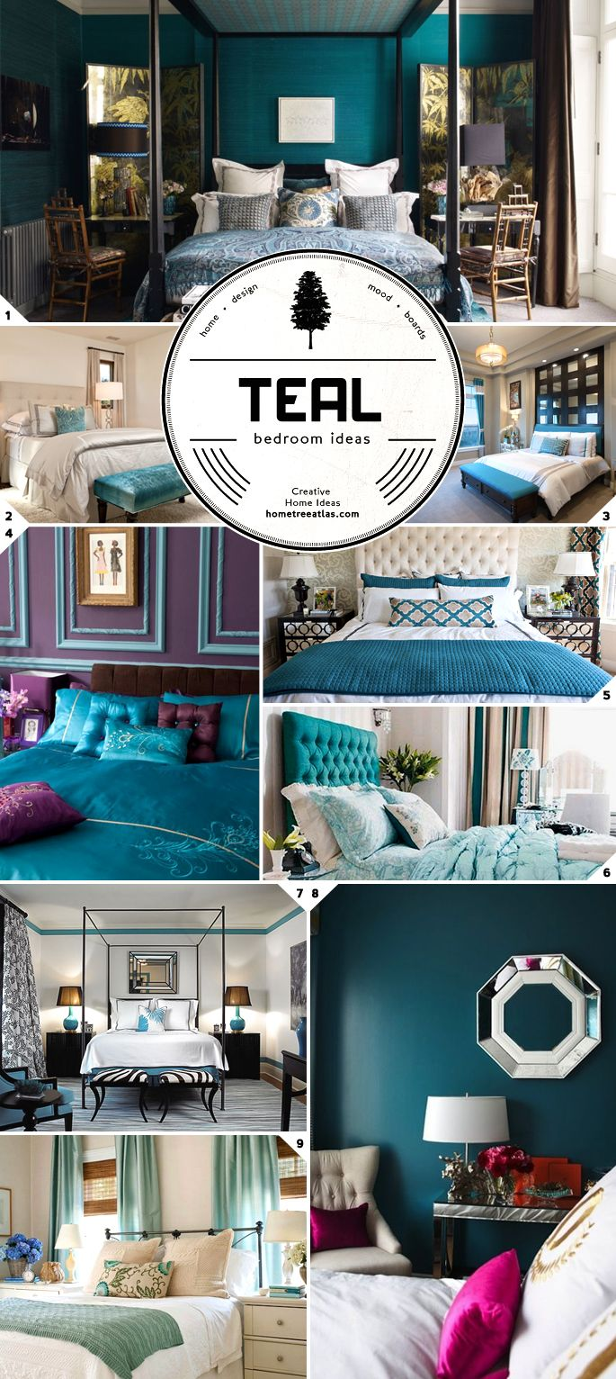 Black and white and teal bedroom - Color Choice Teal Bedroom Ideas