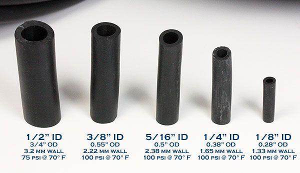 fuel line hose sizes