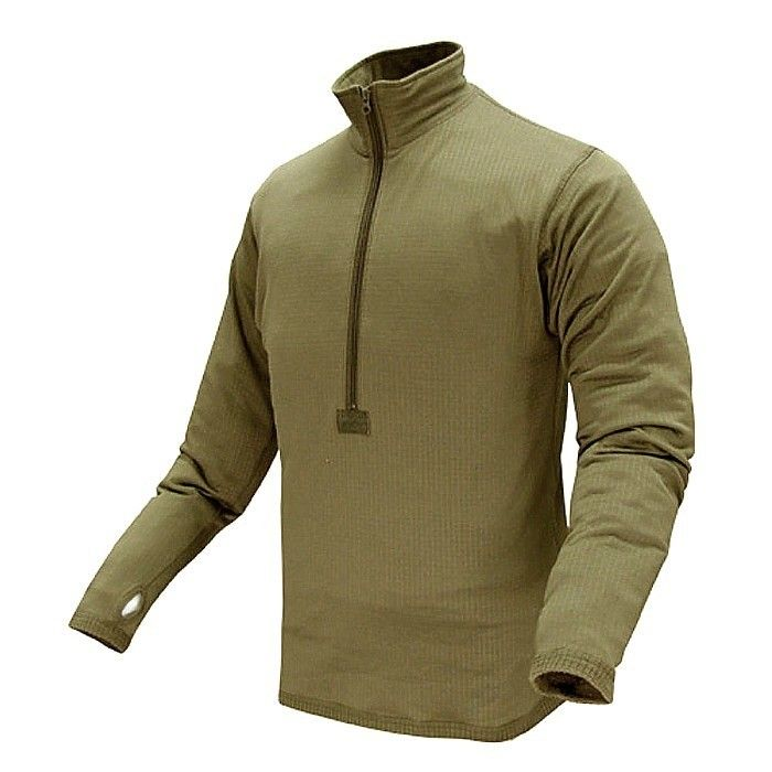 SBB Base II Zip maglia termica in pile grid verde od