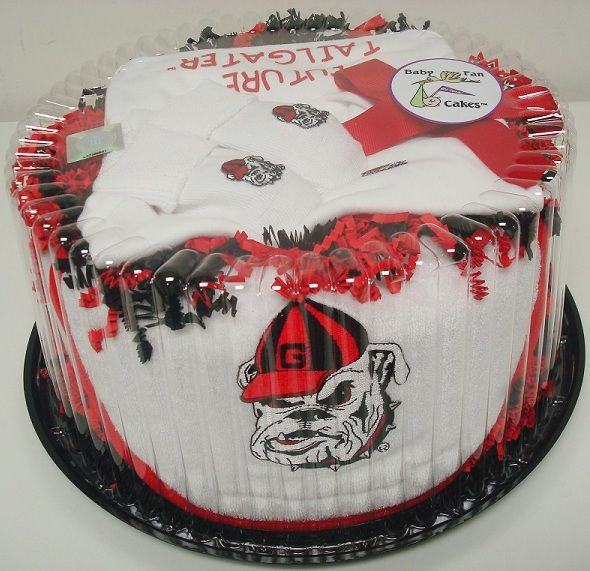 Score big points at the next baby shower with our Georgia Bulldogs Baby Fan Cake gift set by Future Tailgater, $49.99