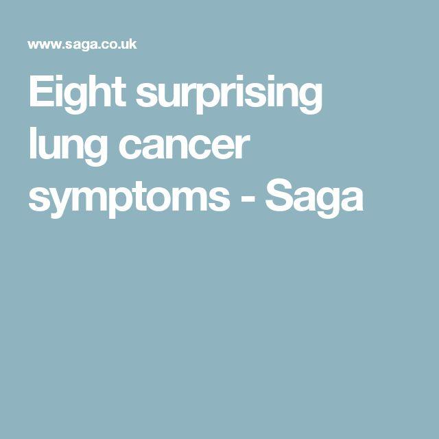 Eight surprising lung cancer symptoms - Saga