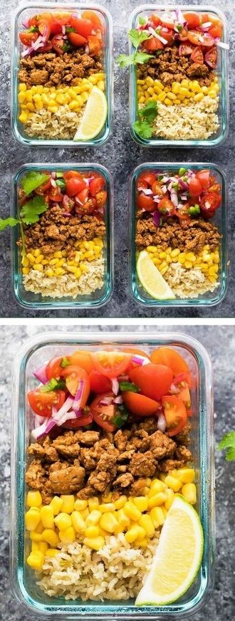 Turkey Taco Lunch Bowls