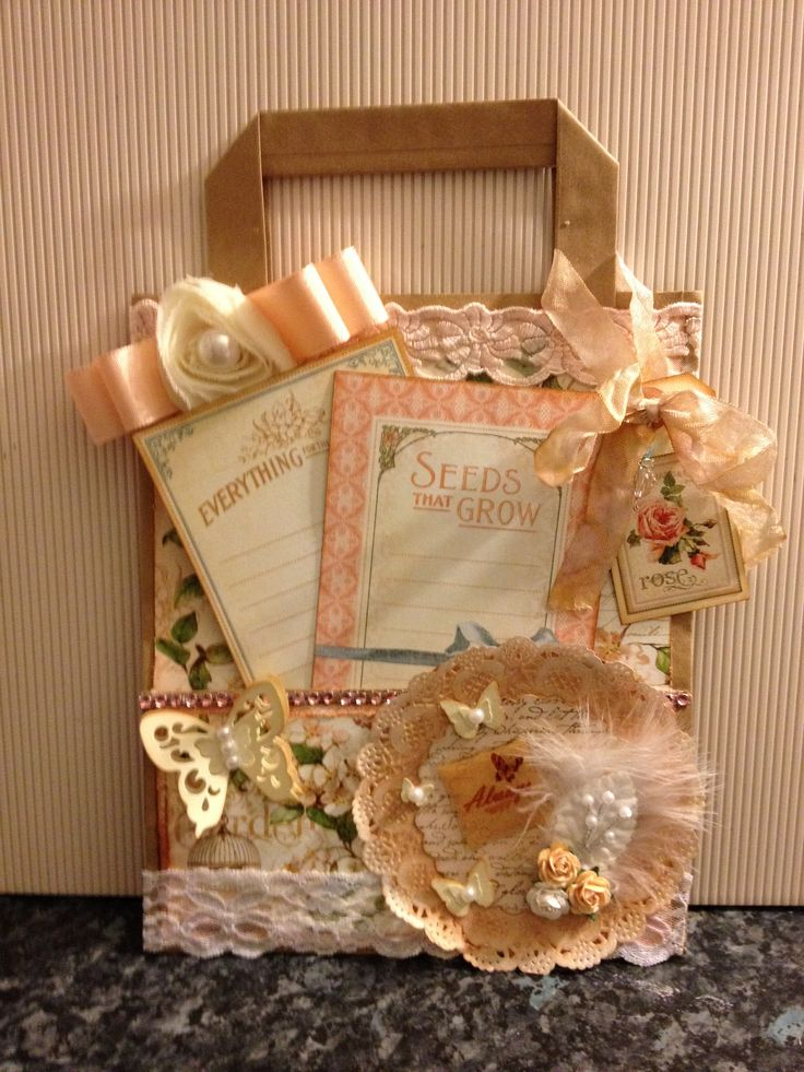 Altered paper bag G45 Secret Garden