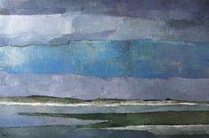 Niels Schouten 'De Slufter' acryl op linnen, 100 x 150 cm