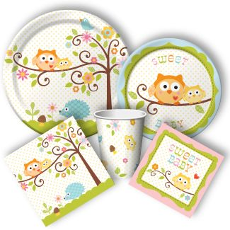 "Owl Babyshower Supplies from www.DiscountPartySupplies.com ""Happi Tree"""