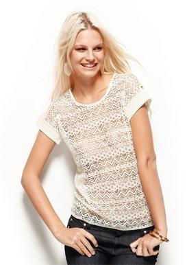 Camiseta de blonda Venca. Be sugar!