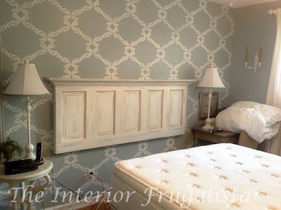 From door to headboard - The Interior Frugalista - DIY Projects and Tutorials for the home