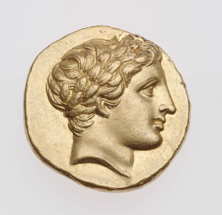 Statere - oro - Anfipoli, Macedonia (323-315 a.C.) - testa di Apollo laureato con corti riccioli di profilo vs.dx.- Museum of Fine Arts, Boston