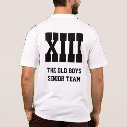 The Old Boys Senior Team No. 13 Adidas T-Shirt  $44.00  by FantasyApparel  - cyo customize personalize diy idea