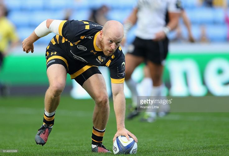 Joe Simpson of Wasps scores the third try duing the European Rugby Champions Cup match between Wasps and Zedbre Rugby at The Ricoh Arena on October 15, 2016 in Coventry, United Kingdom.