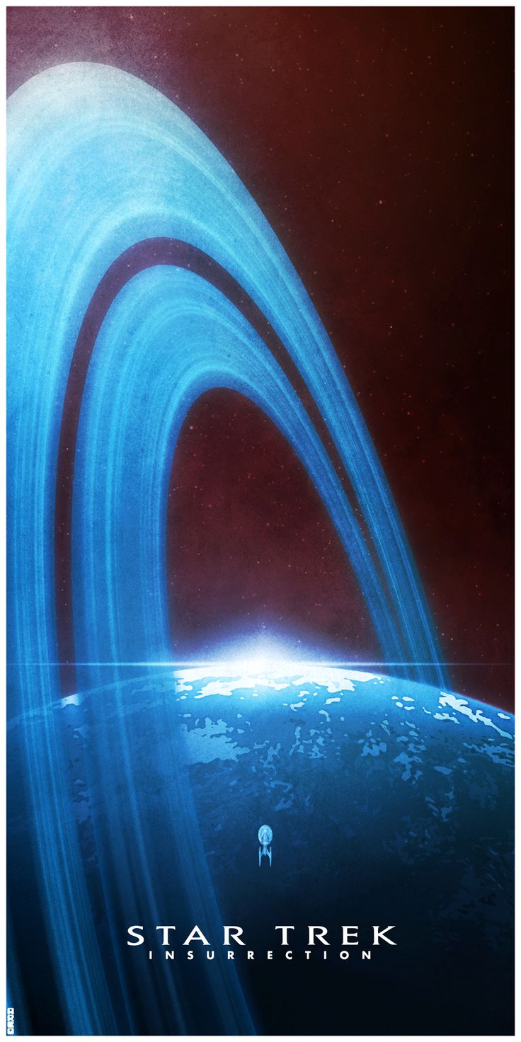 Star Trek: Insurrection aka the dumbest TNG movie but cool poster. -- But, but, it's MY favorite TNG movie.