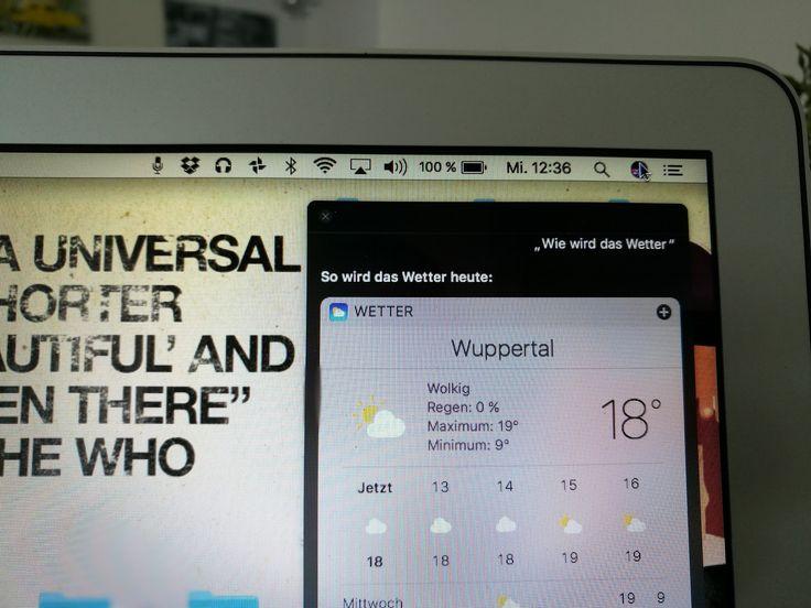 Neues Update am Mac - Neues Glück. Siri am MacBook.  Hey, man kann nun mit dem…