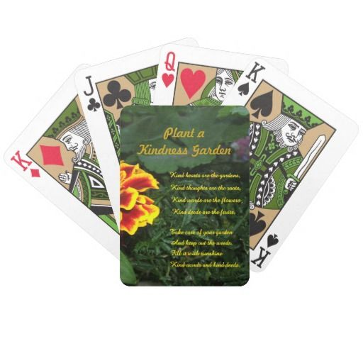 Kindness Garden Playing Cards #kindness #kindnessgarden #gift