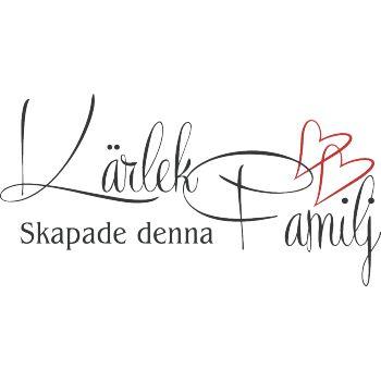 Väggord: Kärlek skapade denna familj