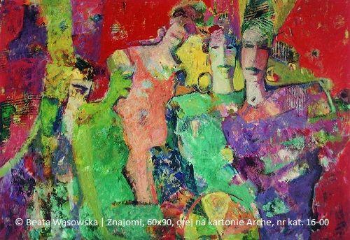 Beata Wąsowska, Znajomi, 60×90, olej na papierze Arche, 1996, nr kat. 16-00