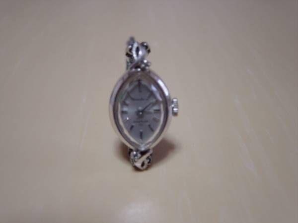 Seiko アンティーク手巻式17石セイコーソーラー婦人用腕時計だ円型 Watch Antique ¥4000yen 〆08月25日