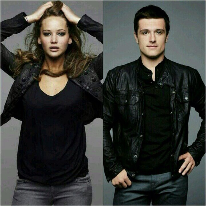 Jennifer Lawrence and Josh Hutcherson looking very Dauntless!