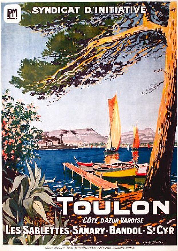✨  Charles (Charly) BLOCTEUR (1892-1961) - Toulon Côte d'Azur Varoise. Les Sablettes - Sanary - Bandol - St Cyr. P.L.M.  Imp. Azémard Cousins, Nîmes