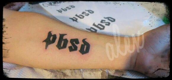 Initials bold  tatoo