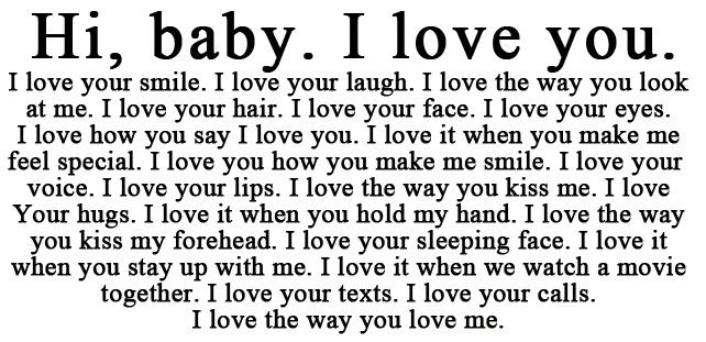 Never enough words to describe your love