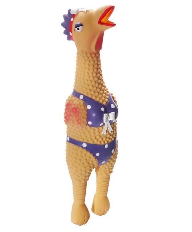 "Charming Pet Giant Henrietta Rubber Chicken Dog Toy Giant 36"""