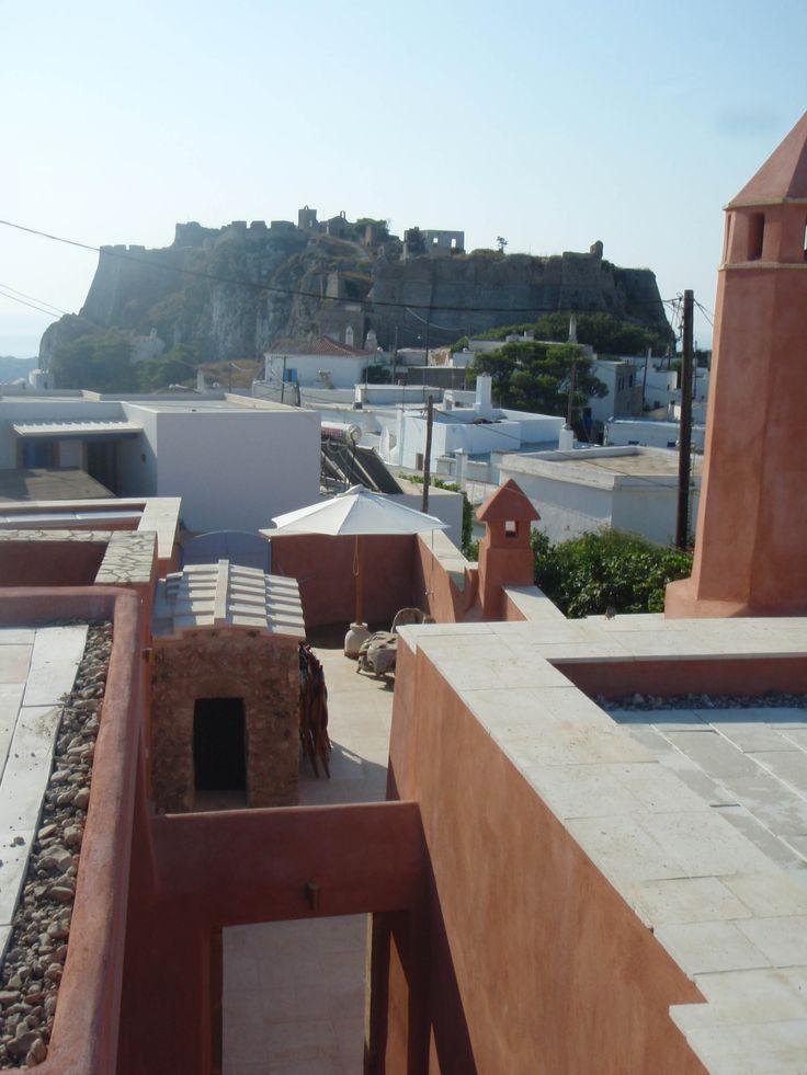 Island of Kythira, Greece: Unification of three old houses in the castle of town and transformation to traditional boutique hotel. Κύθηρα. Συνένωση κατοικιών και διαμόρφωση σε παραδοσιακό ξενώνα, Nikolas Dorizas, Architect,  Tel: +30.210.4514048 Address: 36 Akti Themistokleous – Marina Zeas, Piraeus 18537