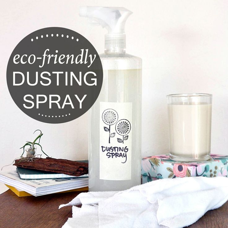 Banish dust with this easy DIY dusting spray!