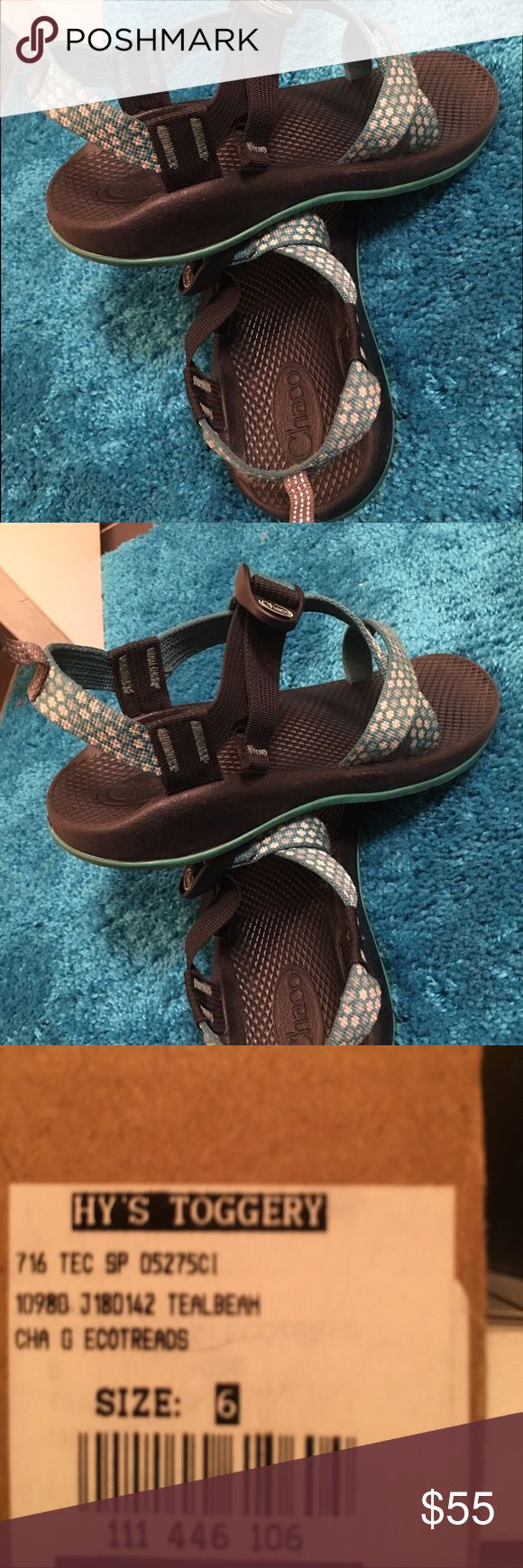 Chacos I got these last summer, I wear a size 8 but I can fit a kids 6, so if you can fit a size six than these are PERFECT FOR YOU ! If anyone has any BLACK chacos willing to trade them for these then I can do that ! Chacos Shoes Sandals & Flip Flops