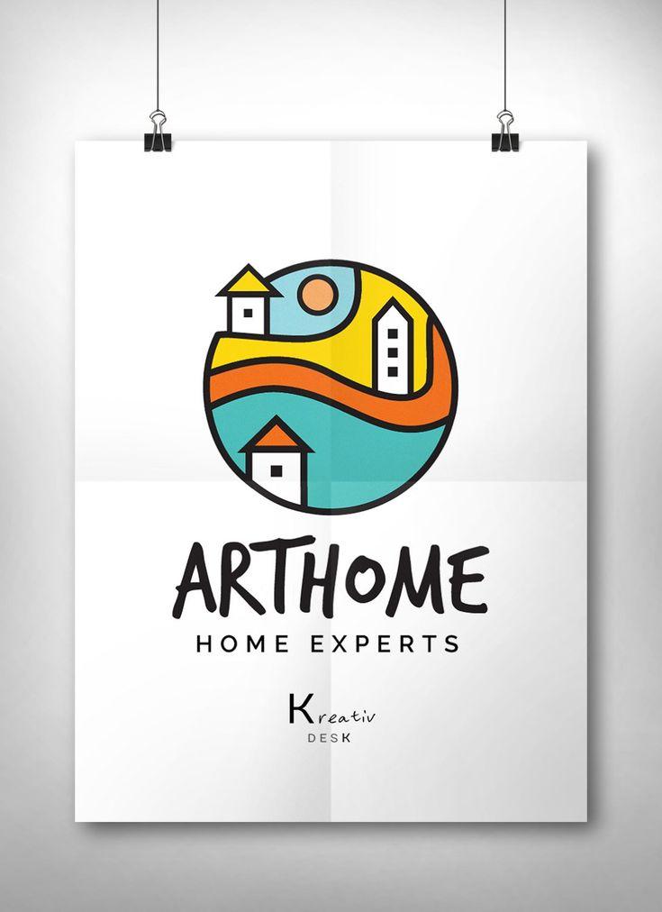 45769b2cda45e Home Logo Design. House Logo. Real Estate Logo. Home Decor Logo ...