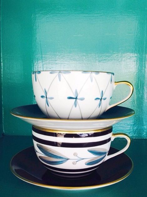 Cup of Blue Tuesday #love #magnolia #interiors #mariedaage #blue #porcelain #limoges #french #magnoliainteriors
