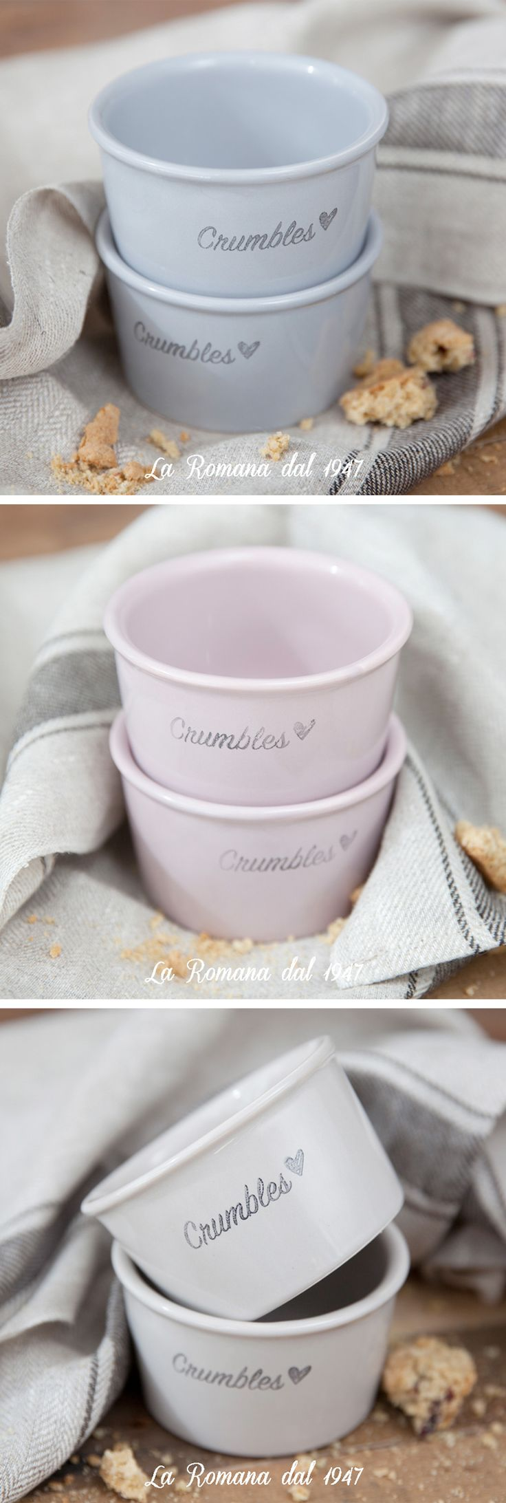 The limited edition 2016 of Crumbles cups from Gelateria La Romana.