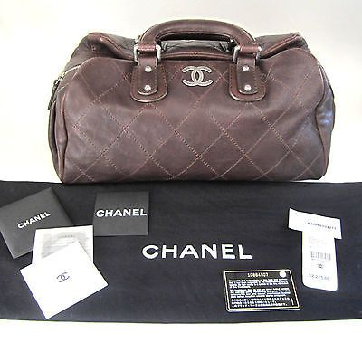 NEW Chanel Outdoor Ligne Caviar Leather Satc...