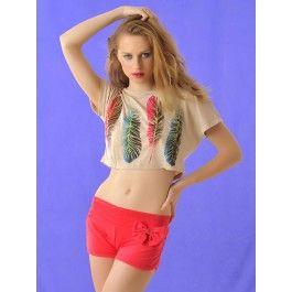 Pantalones Cortos Color Coral PA179