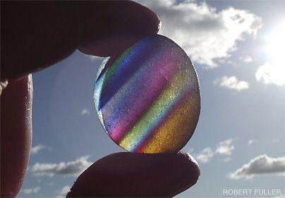 A rare English rainbow sea glass gem