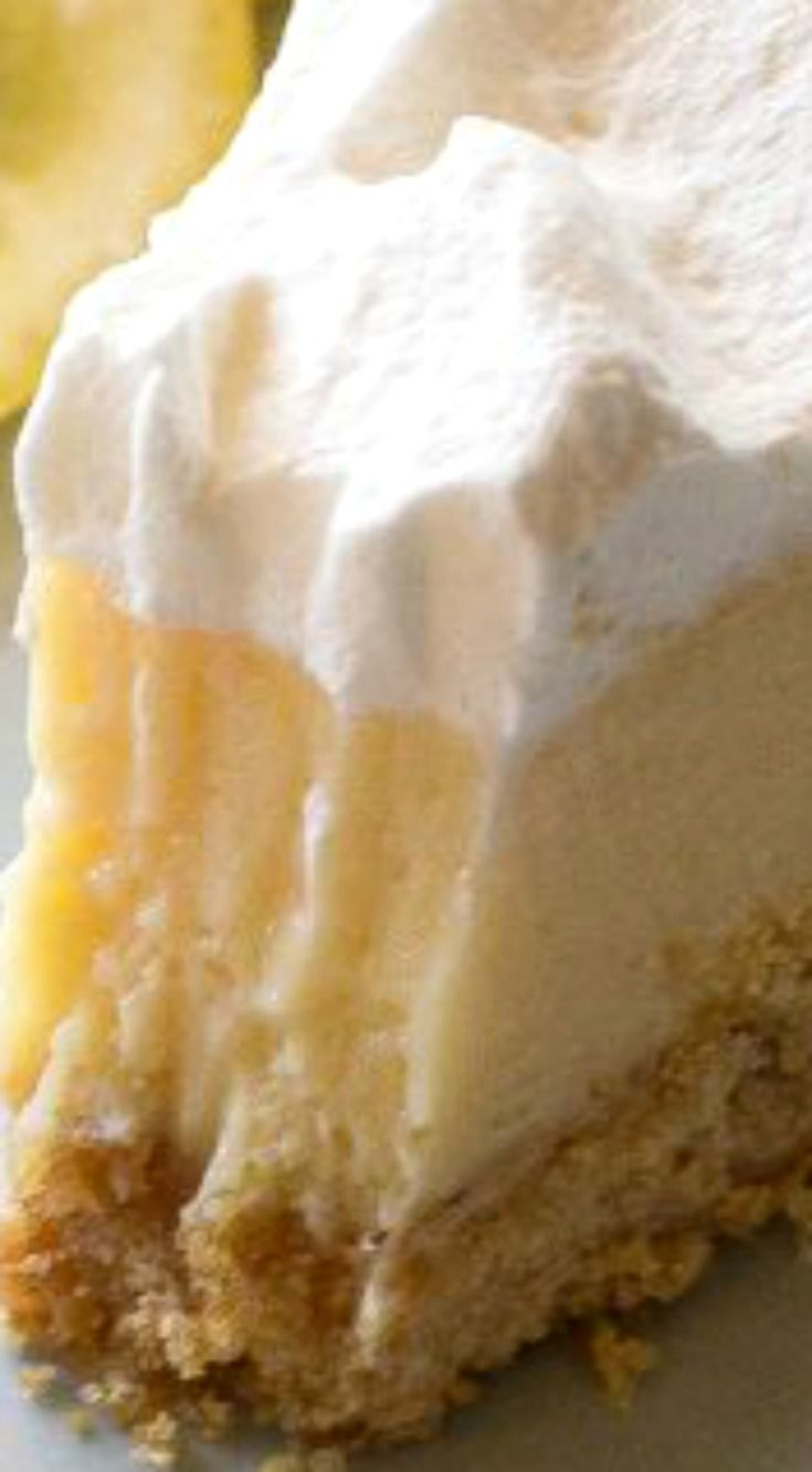 Lemon Pie ~ The famous Magnolia Lemon Pie by Joann Gaines... Light, sweet and tart lemon pie with a thick graham cracker crust.