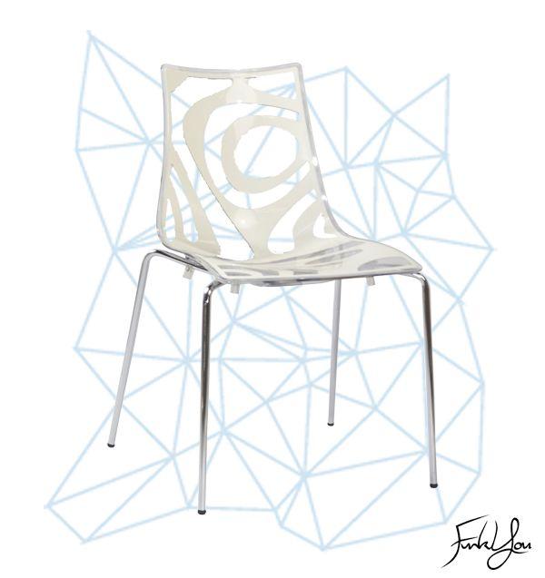 Wave Chair - Transparent / White. www.funkyou.com.au