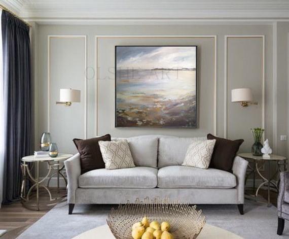 Landscape Paintingabstract Painting Large Canvas Artlarge Etsy