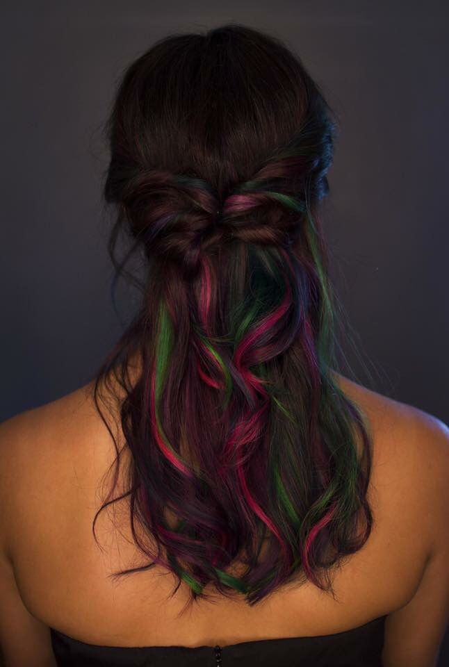 Rainbow hair  Monique  www.vocarehairstudio.com
