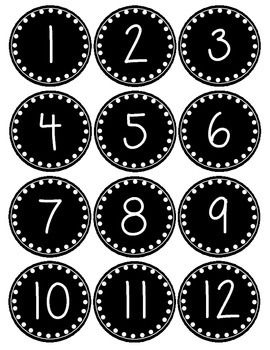 Smaller Polka Dot Number Labels 1-36 ~Freebie~