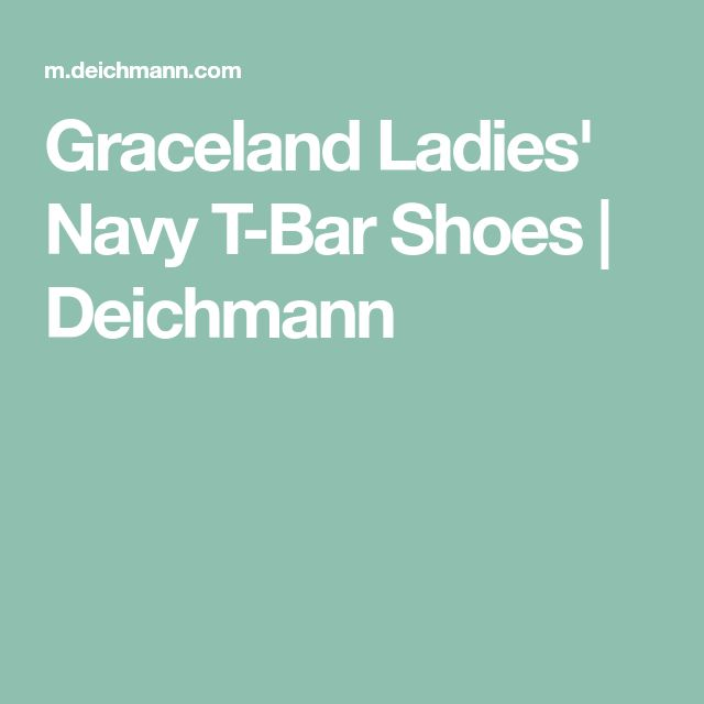 Graceland Ladies' Navy T-Bar Shoes   Deichmann